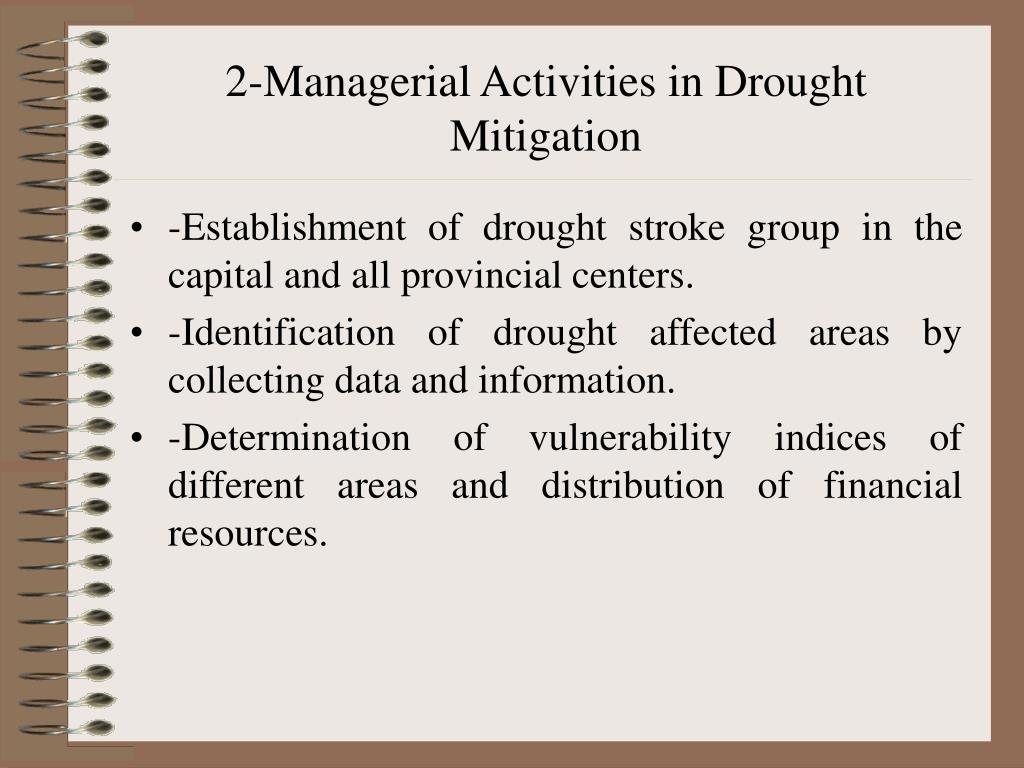 2-Managerial Activities in Drought Mitigation