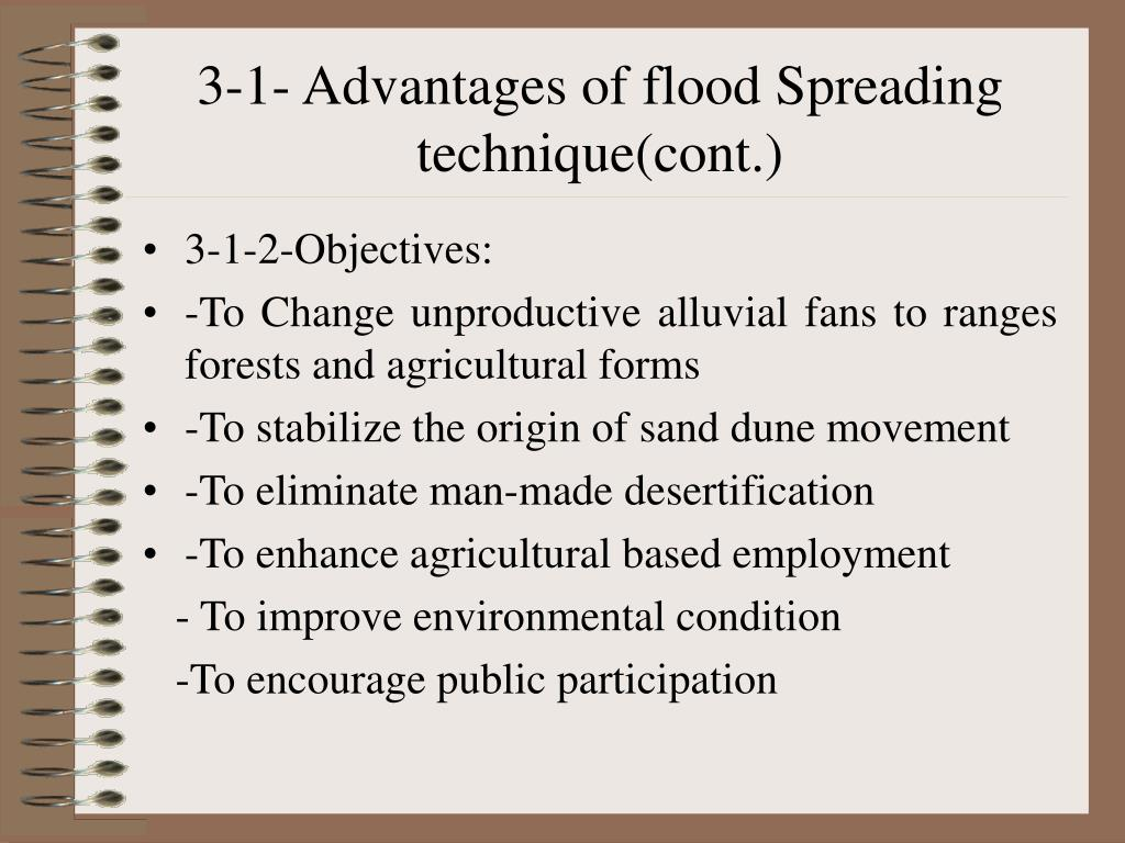 3-1- Advantages of flood Spreading technique(cont.)