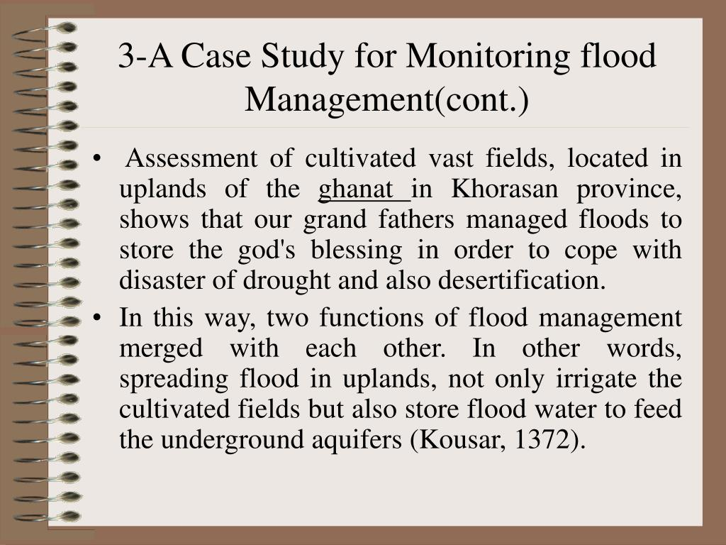 3-A Case Study for Monitoring flood Management(cont.)