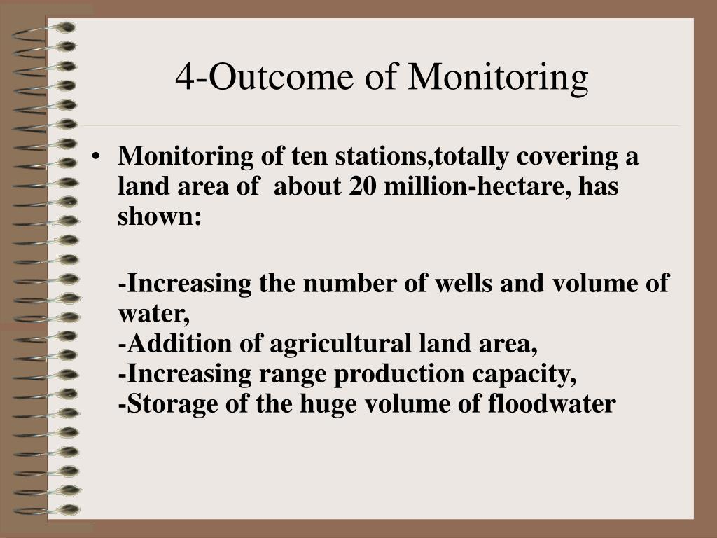 4-Outcome of Monitoring