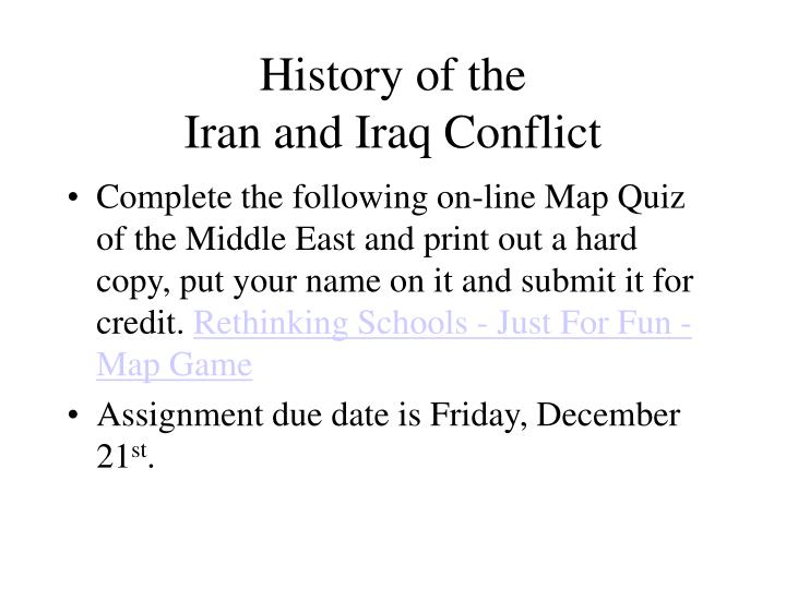 History of the iran and iraq conflict l.jpg