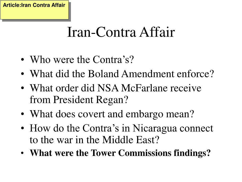 Article:Iran Contra Affair