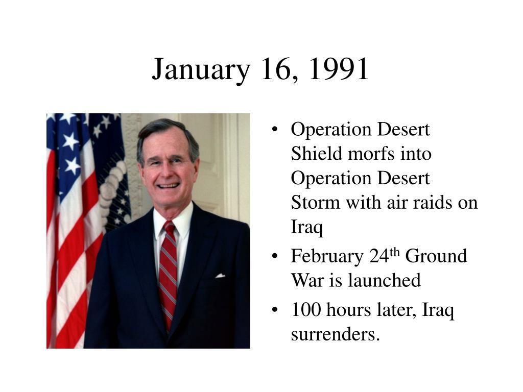 January 16, 1991