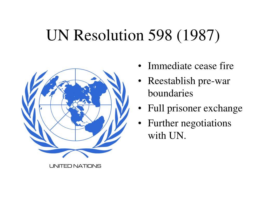 UN Resolution 598 (1987)