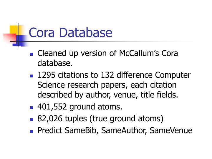 Cora Database