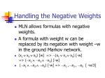 handling the negative weights