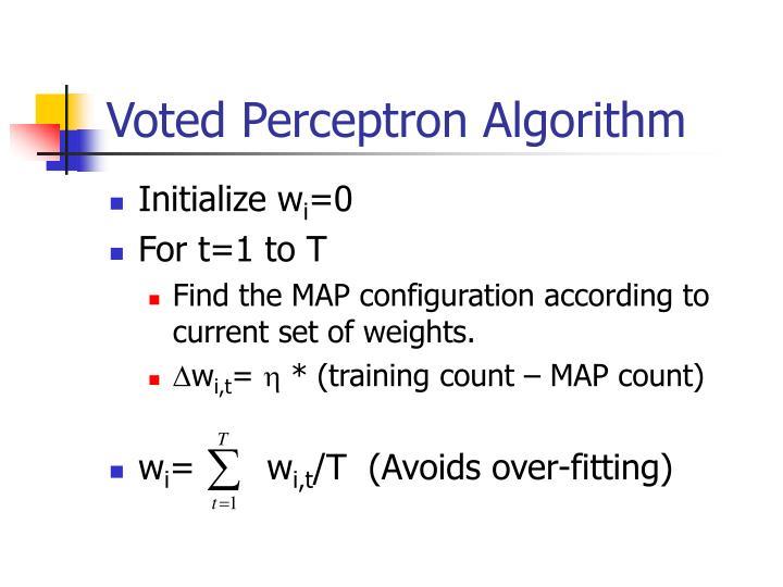 Voted Perceptron Algorithm