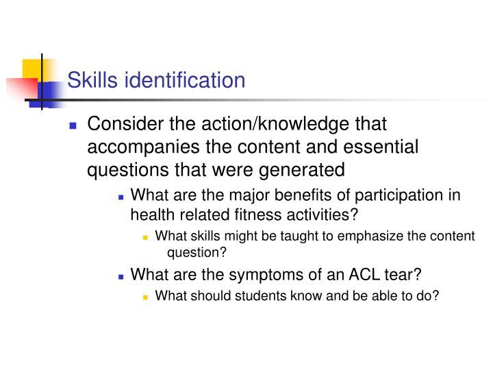 Skills identification