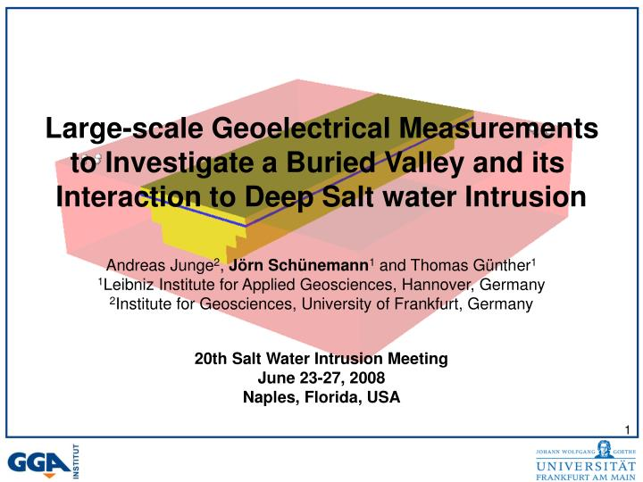 Large-scale Geoelectrical Measurements