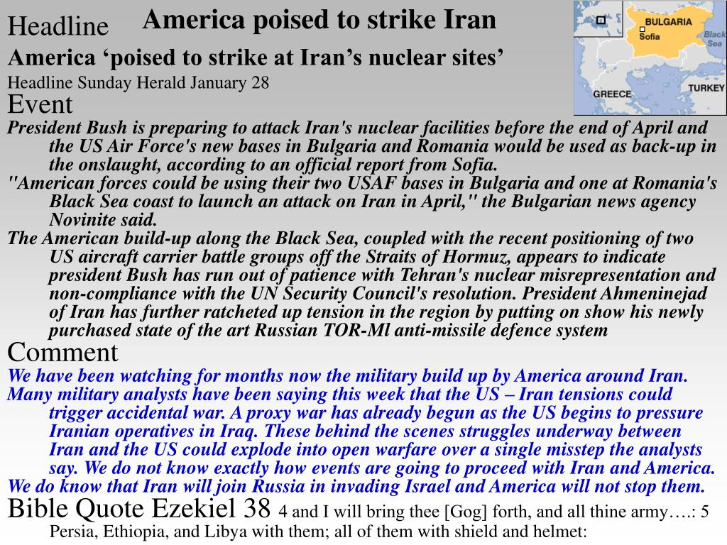 America poised to strike Iran
