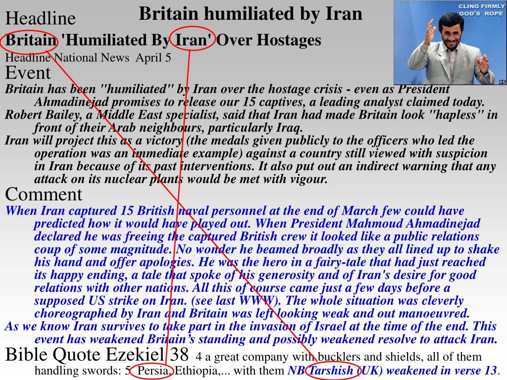 Britain humiliated by Iran