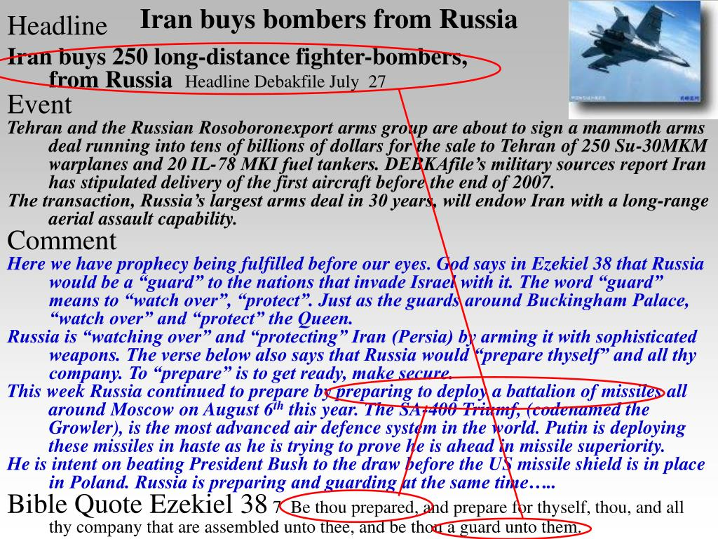 Iran buys bombers from Russia
