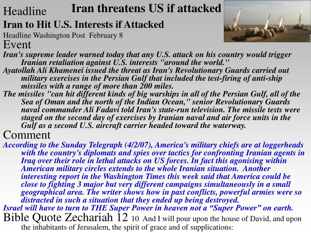 Iran threatens US if attacked