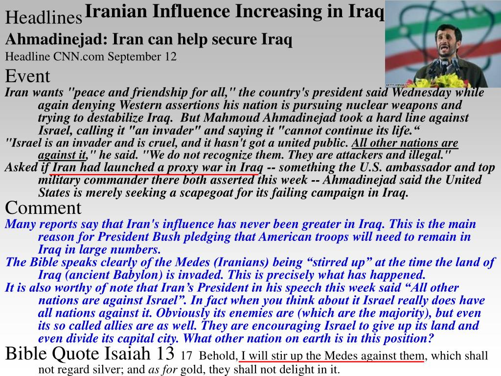 Iranian Influence Increasing in Iraq