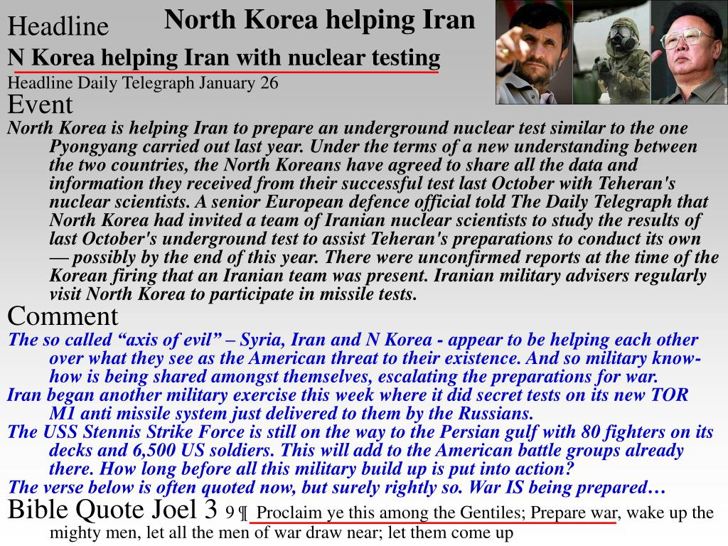 North Korea helping Iran