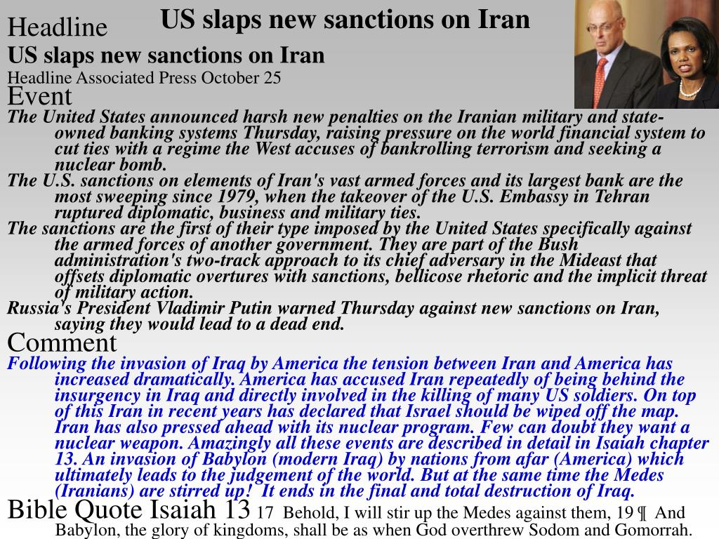 US slaps new sanctions on Iran