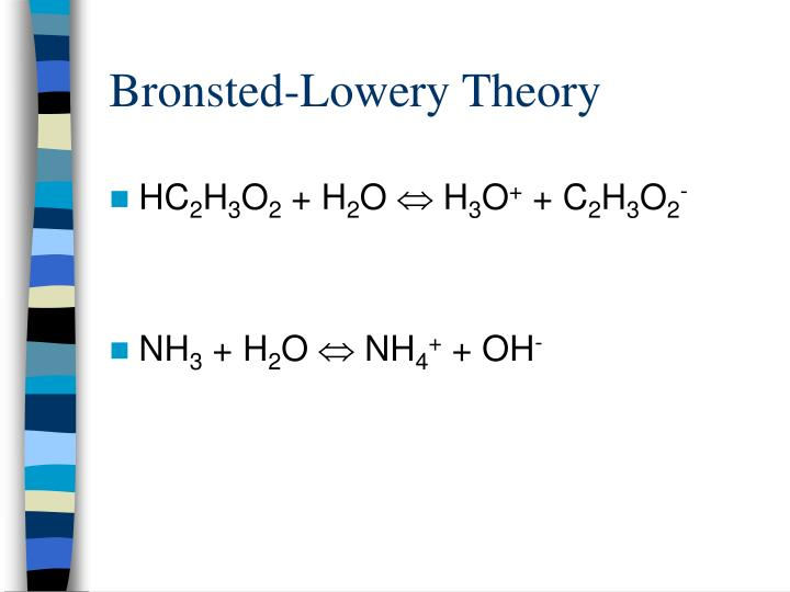 Bronsted-Lowery Theory