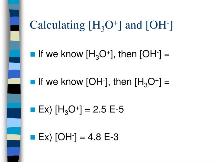 Calculating [H