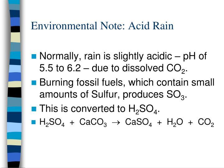 Environmental Note: Acid Rain