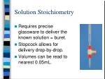 solution stoichiometry1