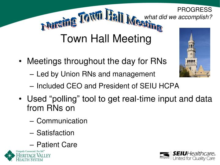 Nursing Town Hall Meeting