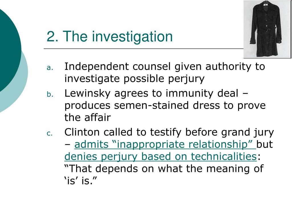 2. The investigation