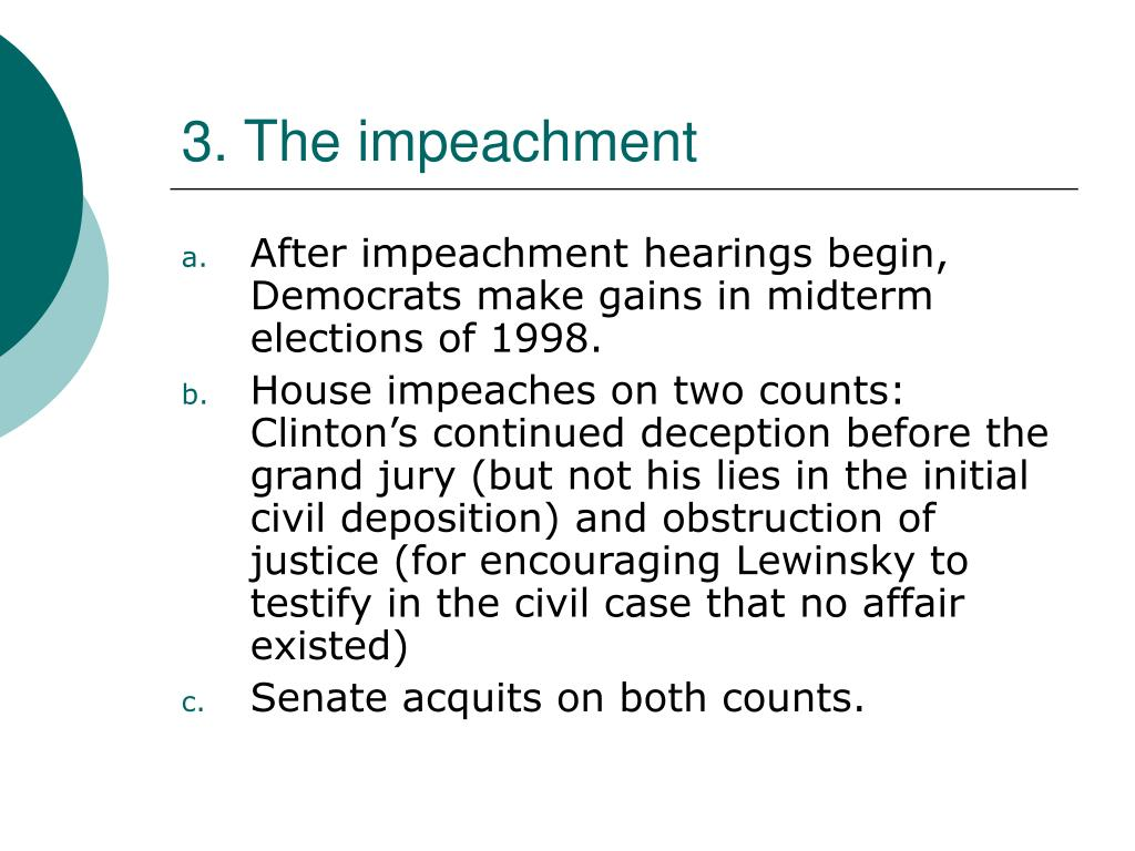 3. The impeachment