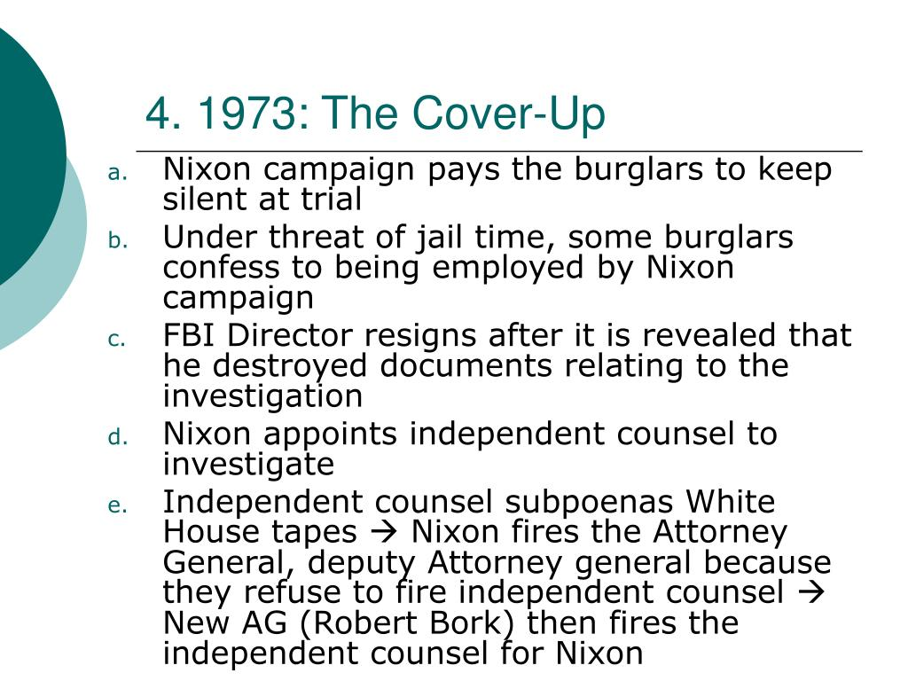 4. 1973: The Cover-Up
