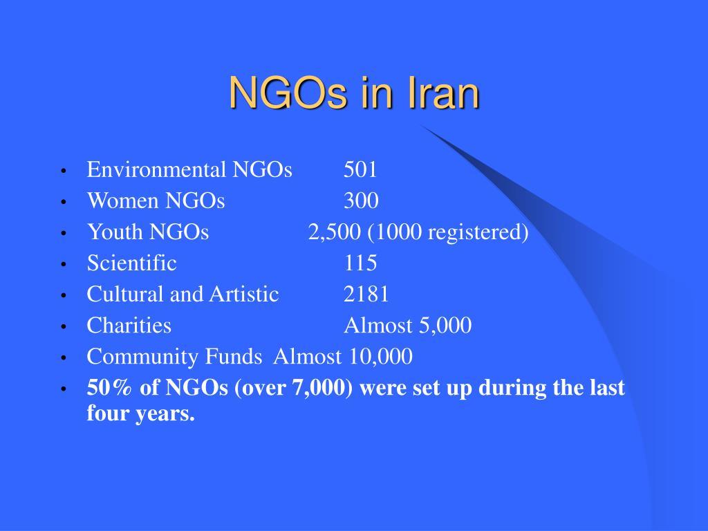 NGOs in Iran