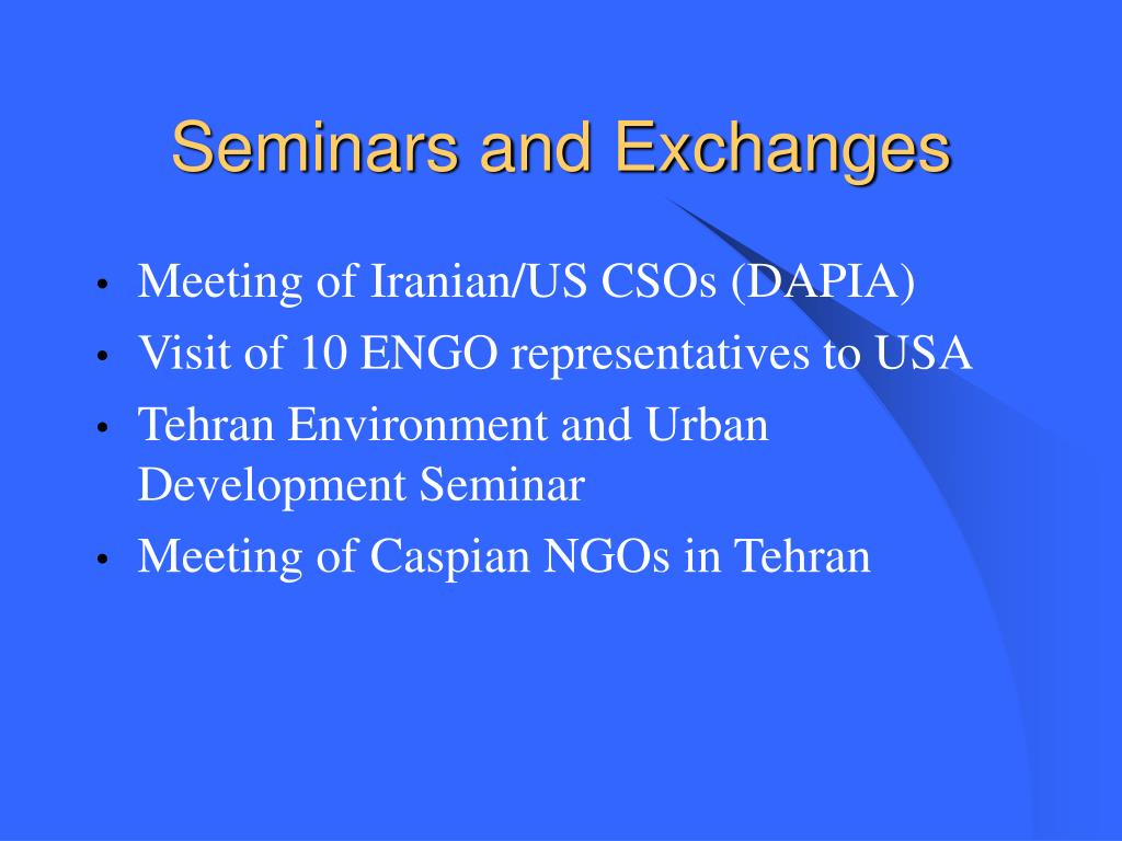 Seminars and Exchanges