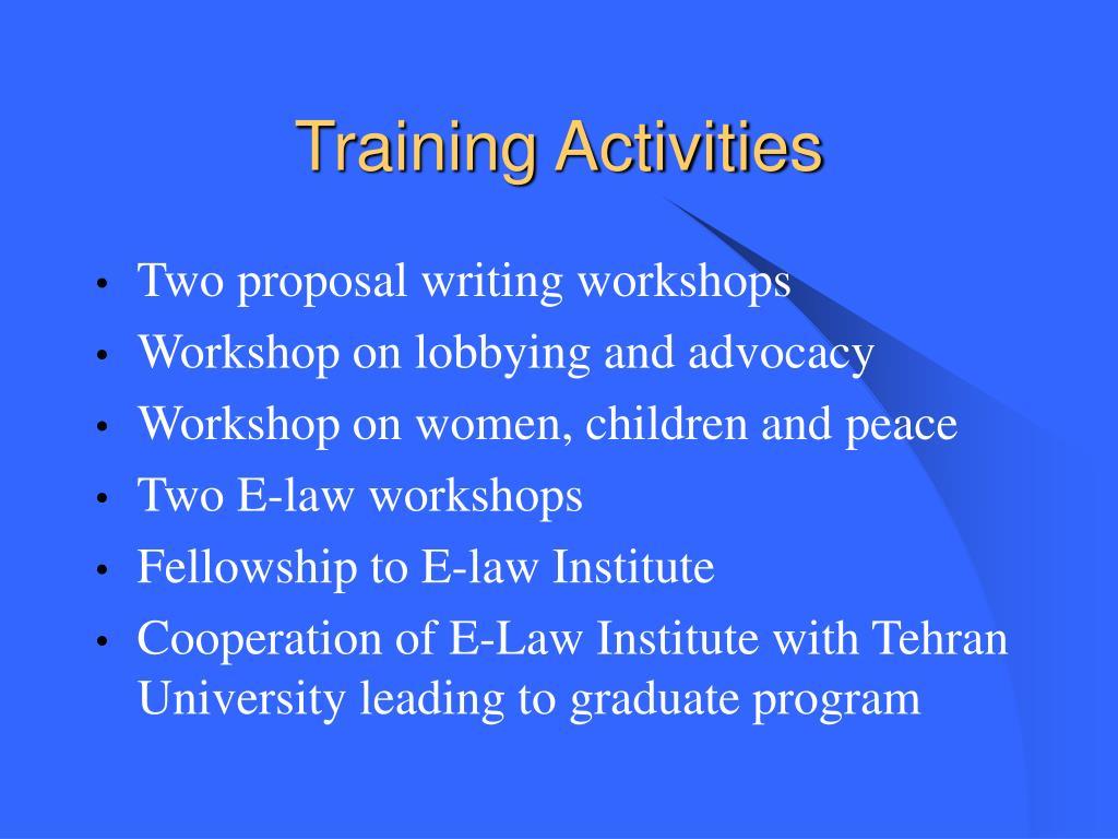 Training Activities