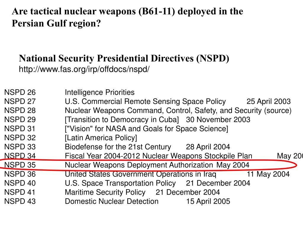 Are tactical nuclear weapons (B61-11) deployed in the