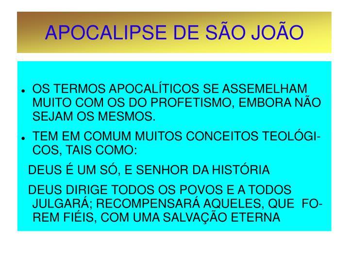 APOCALIPSE DE SÃO JOÃO