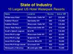 state of industry 10 largest us hotel waterpark resorts