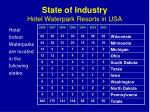 state of industry hotel waterpark resorts in usa