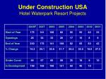 under construction usa hotel waterpark resort projects