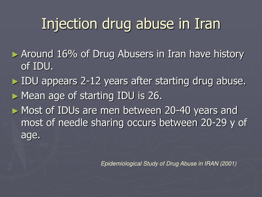 Injection drug abuse in Iran
