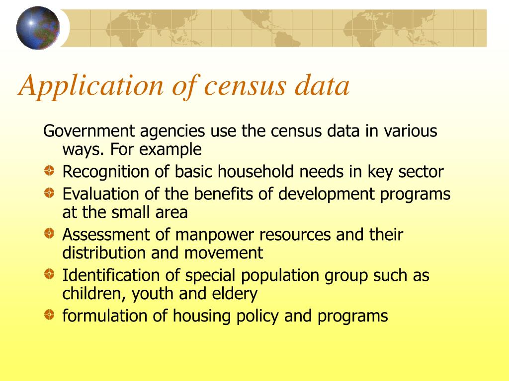Application of census data