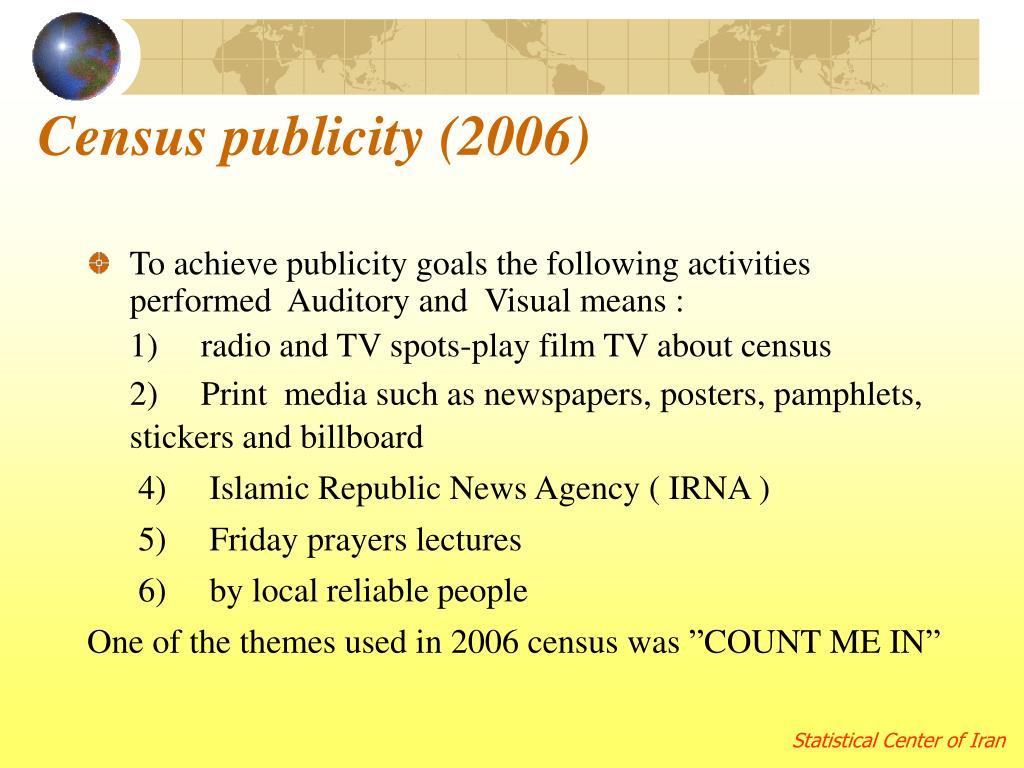 Census publicity (2006)