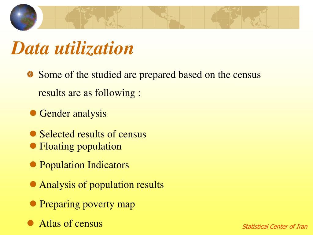 Data utilization