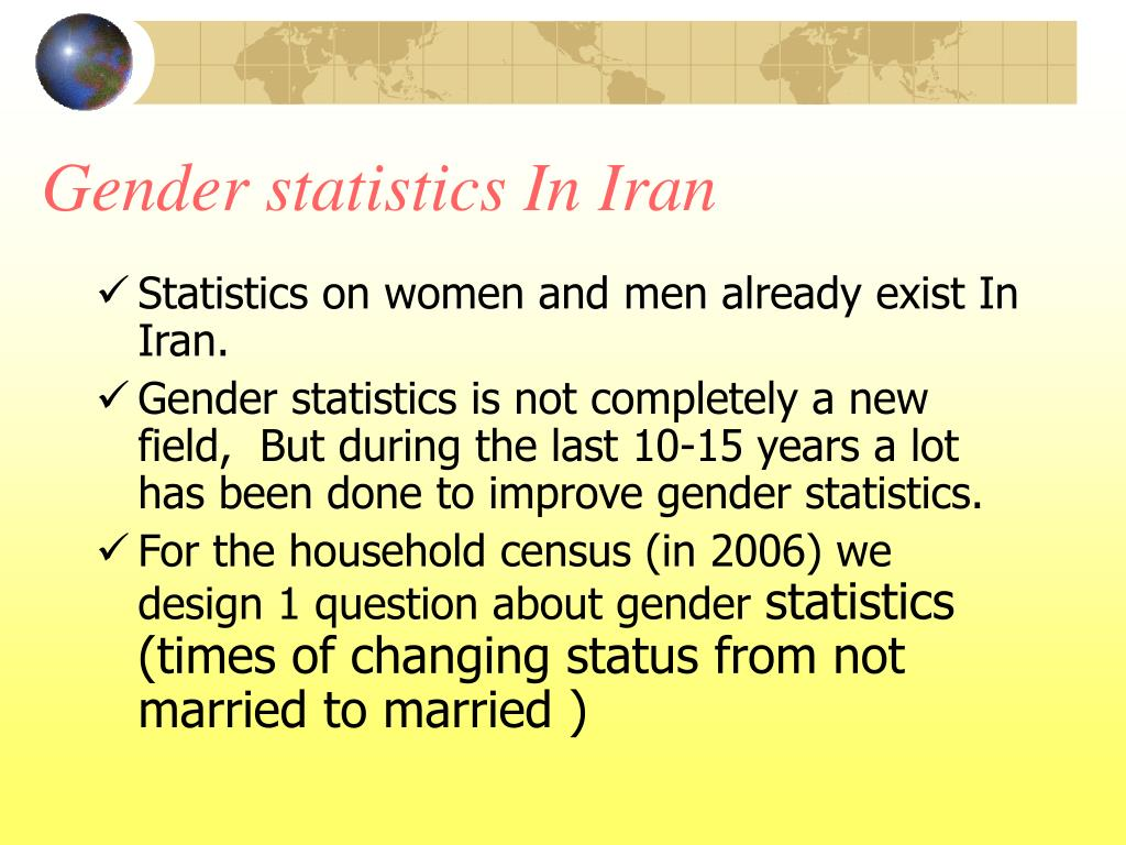 Gender statistics In Iran