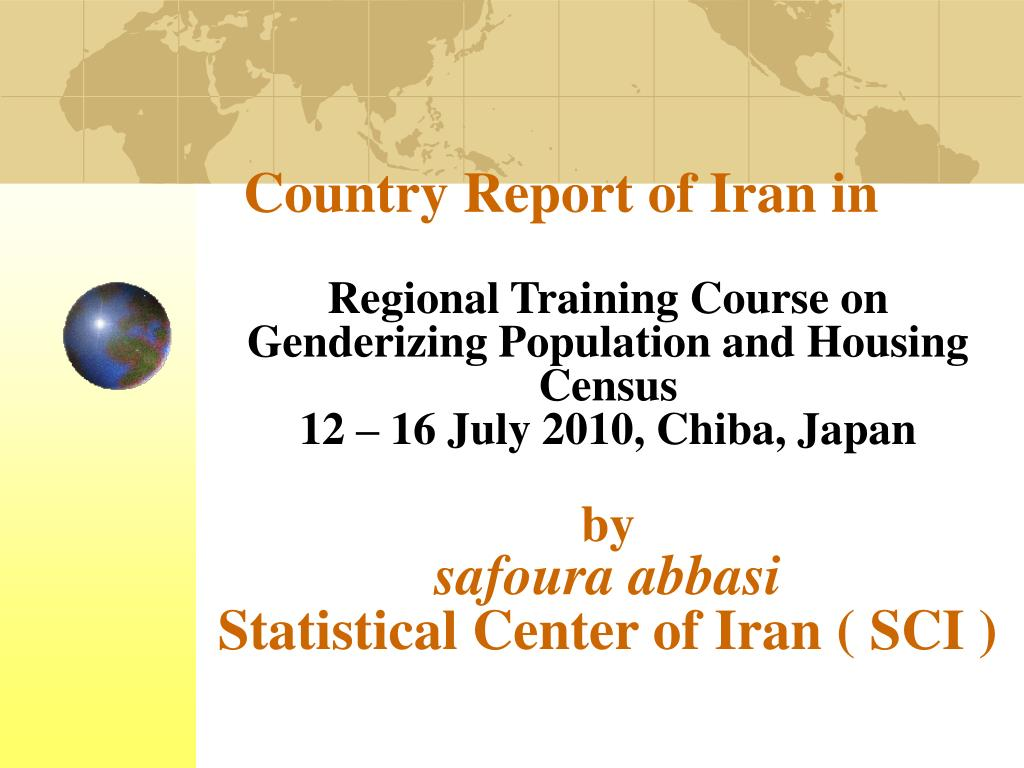 Country Report of Iran in