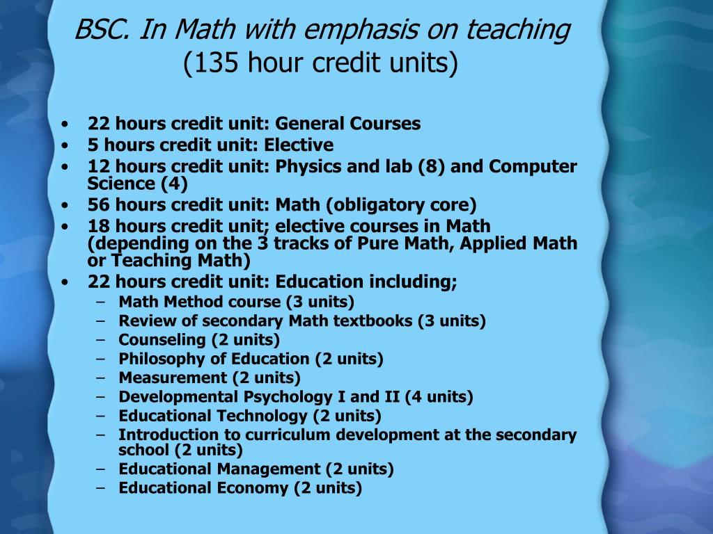 BSC. In Math