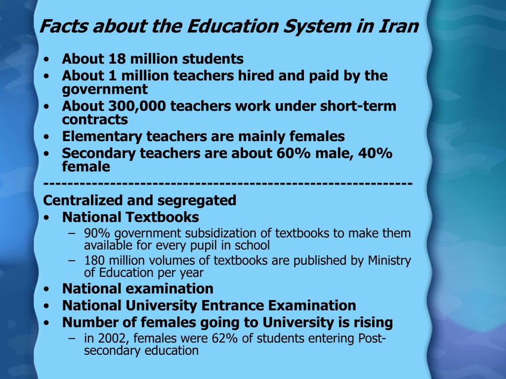 Facts about the Education System in Iran