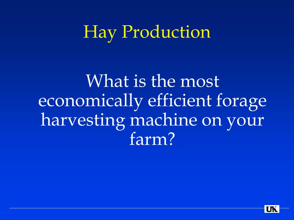 Hay Production