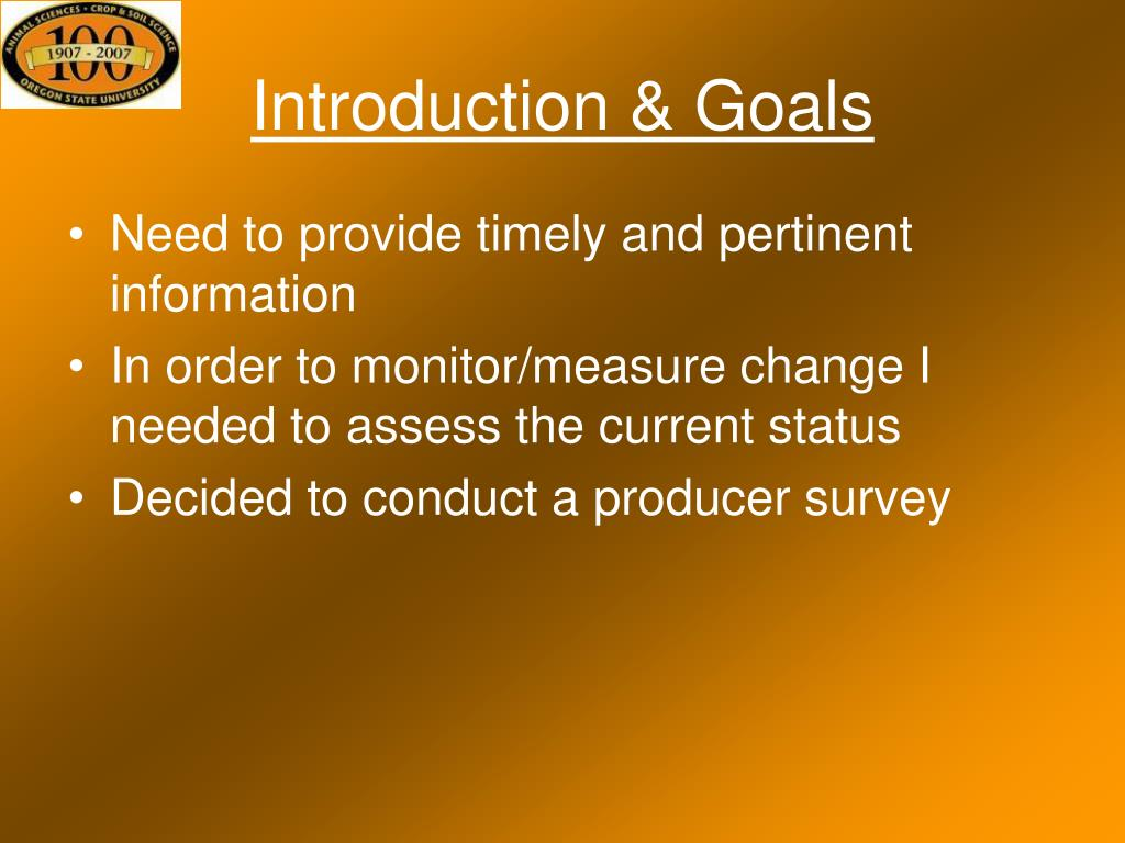 Introduction & Goals
