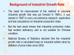 background of industrial growth rate2