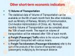 other short term economic indicators1