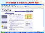 publication of industrial growth rate6