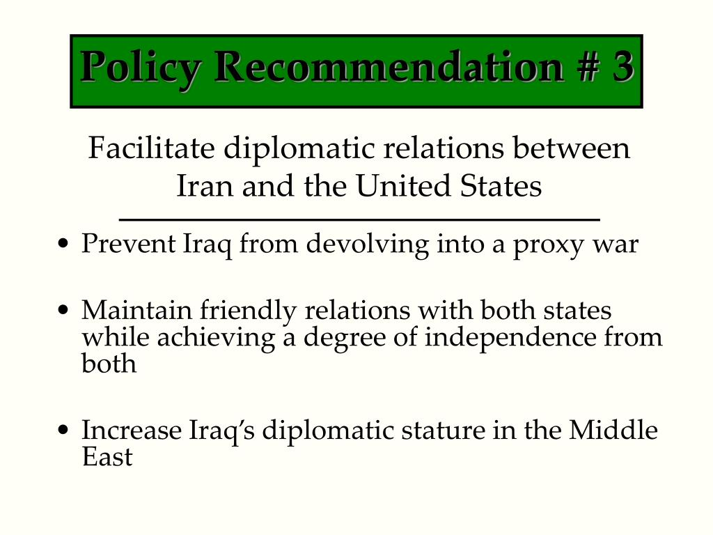 Policy Recommendation # 3